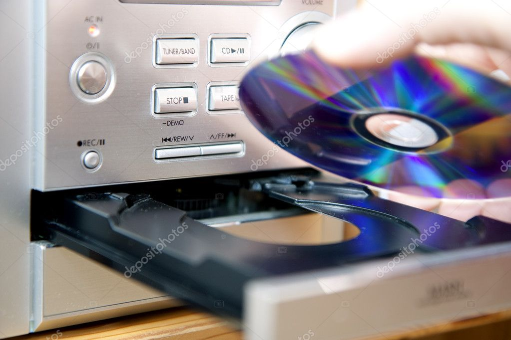 loading or putting cd