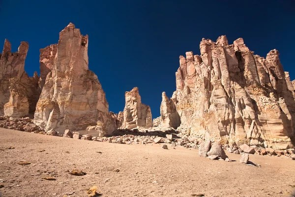 撒哈拉沙漠。塔西里巖畫阿爾及利亞 — 圖庫照片©muha04#5479242