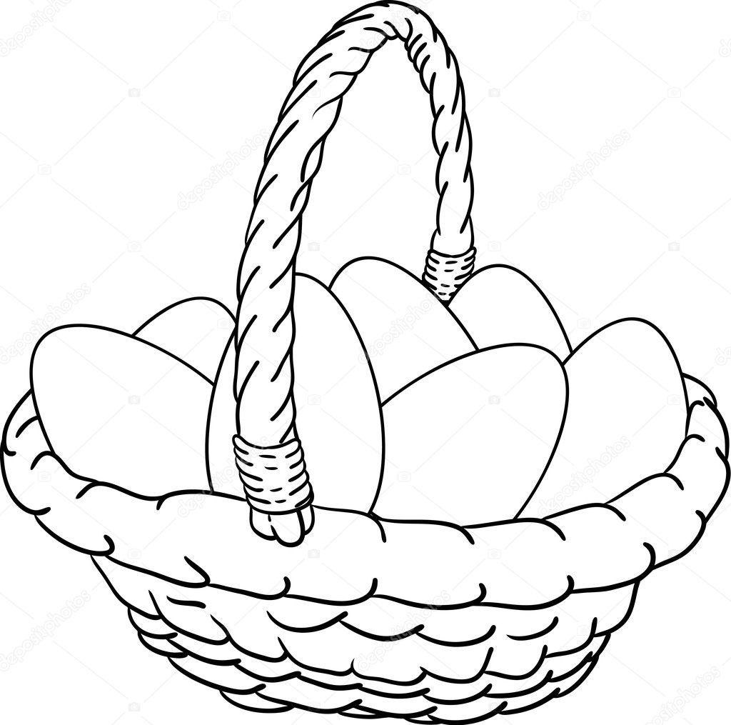 Basket of Easter eggs — Stock Vector © pavelmidi #2742824