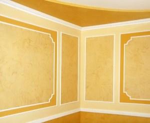 Empty Yellow Room Background 10