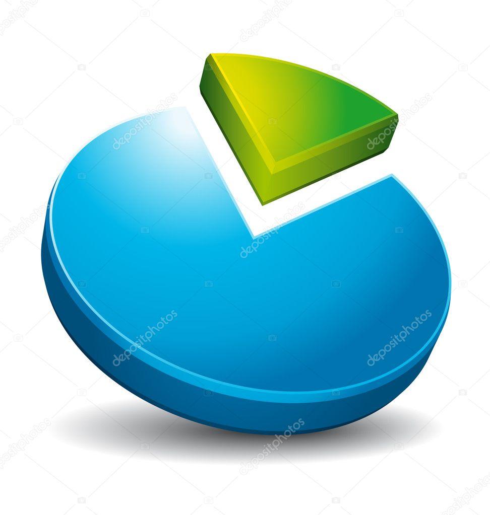 medium resolution of 3d circular diagram stock vector