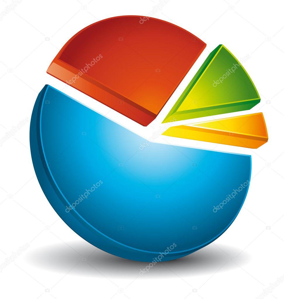medium resolution of colorful 3d circular diagram stock vector
