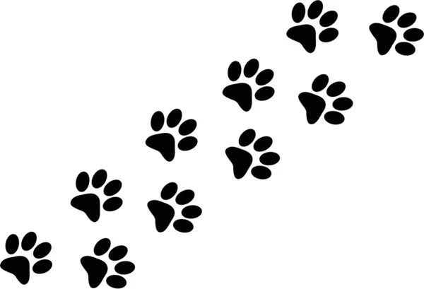 Paw trail — Stock Vector © decobt #3236720