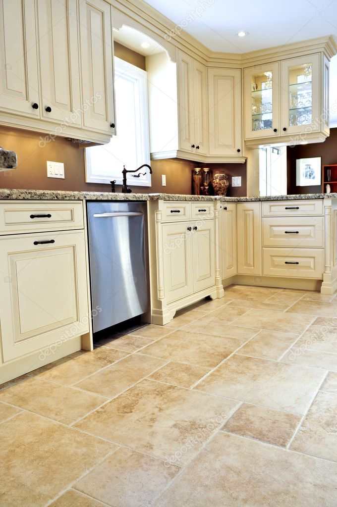 kitchen tile floors laminate countertops home depot 在现代厨房瓷砖地板 图库照片 c elenathewise 4718700