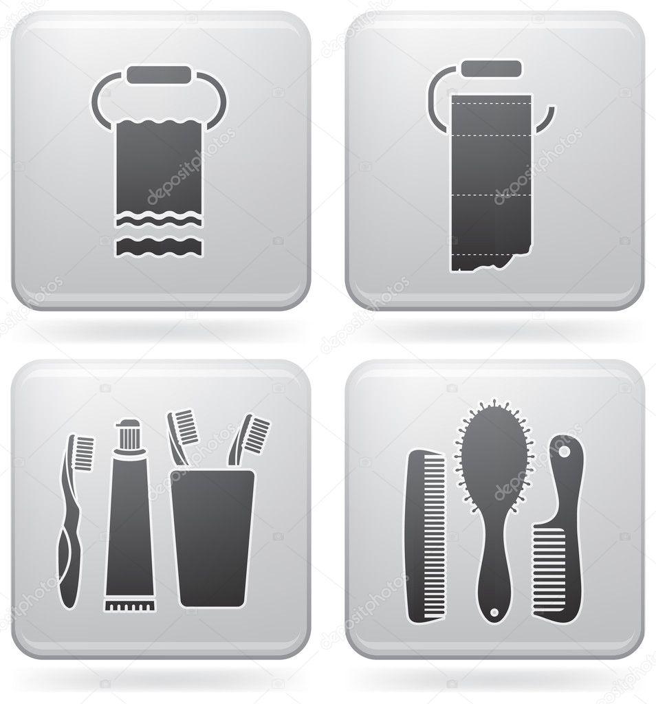 Bathroom utensils  Stock Vector  Vectorminator 3630050