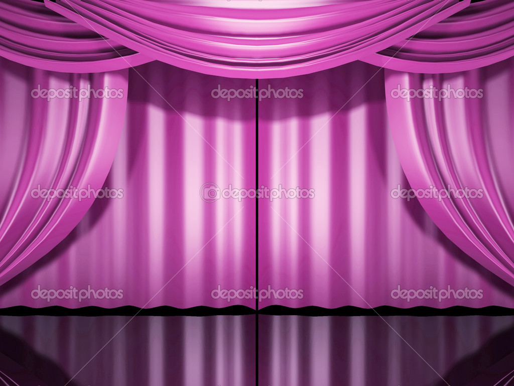 Rideaux de scne rose  Photographie sgamez  3180520