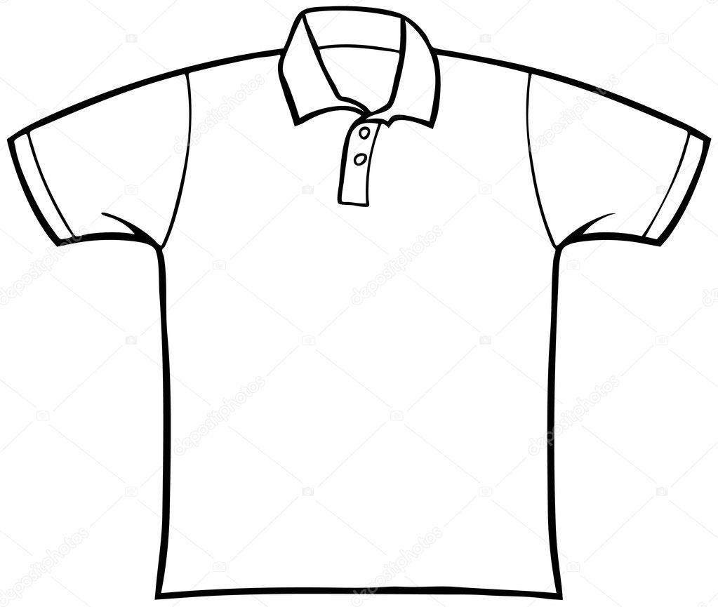 t-shirt con colletto — Vettoriali Stock © cteconsulting