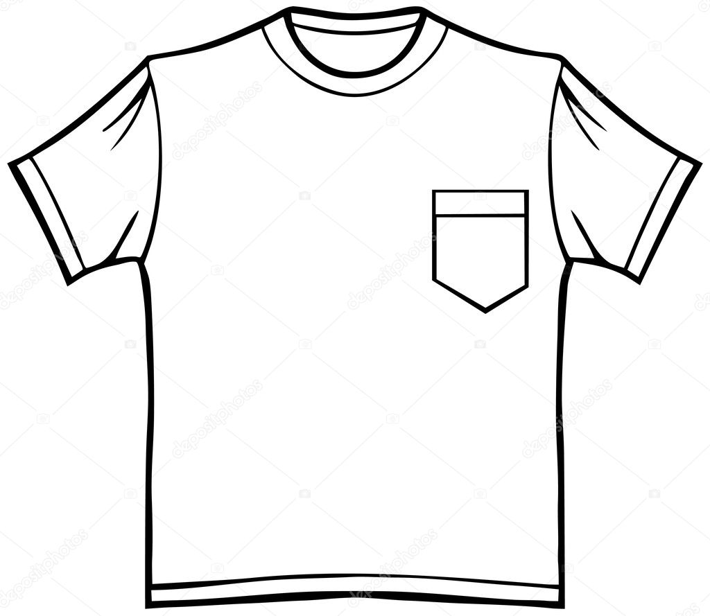 T-Shirt with Pocket — Stock Vector © cteconsulting #3999857