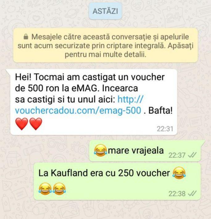 fraudă cu vouchere eMag și Kaufland