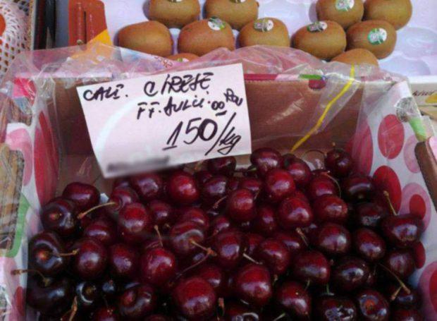 Cireșe foarte dulci, la prețul de 150 lei/kg