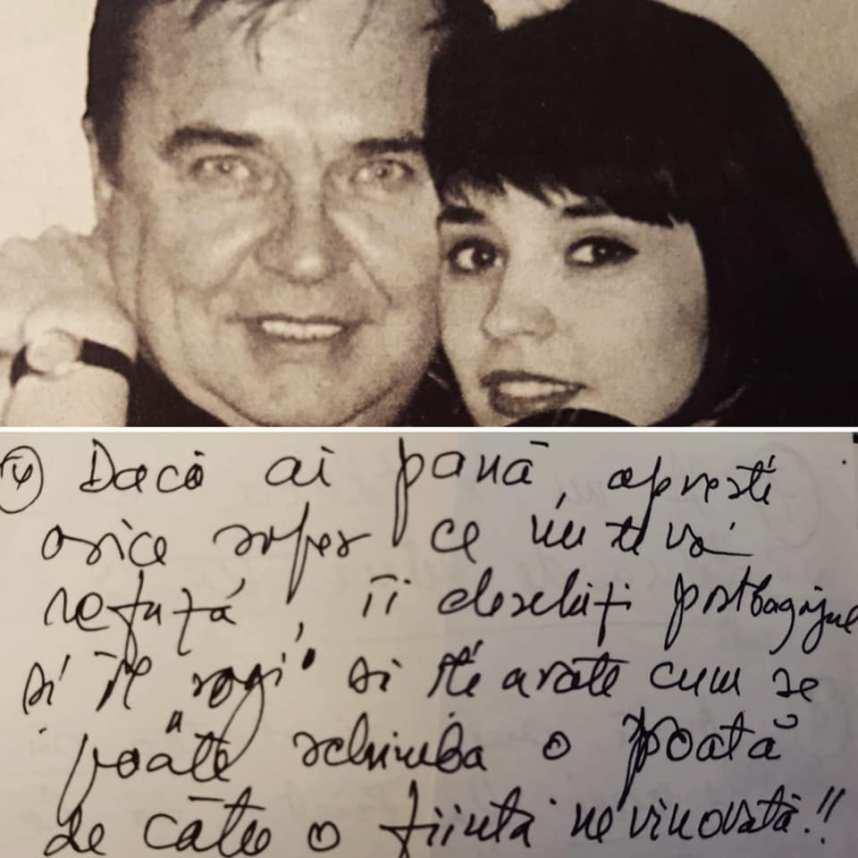 """Andreea Marin a publicat scrisoarea trimisă de tatăl ei, în urmă cu 25 de ani. """"E lesne să vă închipuiți urmarea"""""""