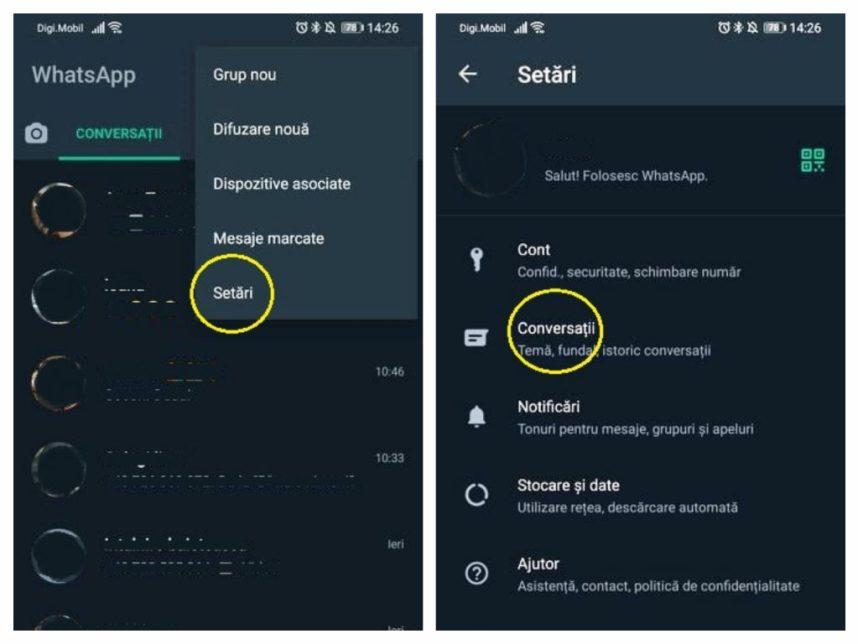 Cum ascunzi o conversație pe WhatsApp fără să o ștergi sau să o arhivezi