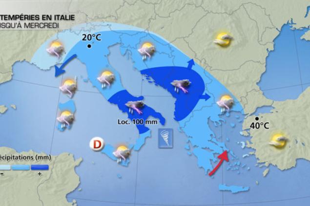 violents orages sur l italie et une