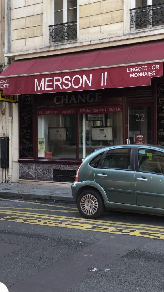 Merson Socit Exploitation Bureau De Change 33 Rue