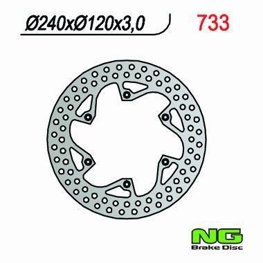 NG733 TARCZA HAMULCOWA HUSQVARNA CR WR 125 25 360 (87-91