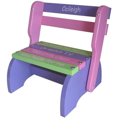 Purple, Pink & Green Kindy Chair Wood Puzzles