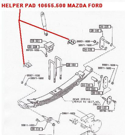 10655.500 REAR SPRING SUSPENSION HELPER HELP BUMP STOP