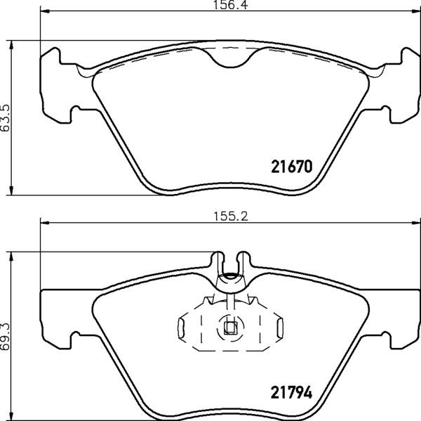 8DB 355 007-861 PREPARED FOR WEAR INDICATOR DISC PAD SET
