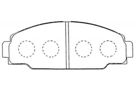 DB1126PM FRONT DISC PAD SET FOR TOYOTA Dyna 150 LY60 LY61