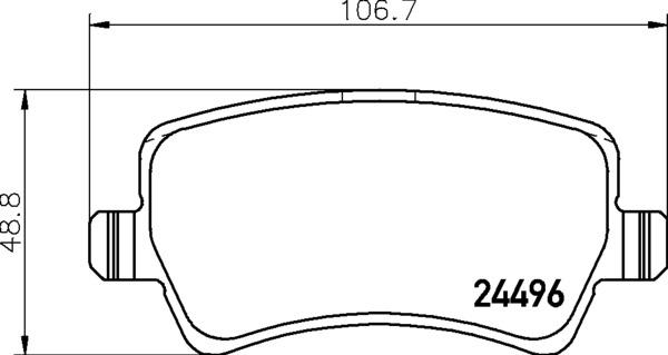 8DB 355 012-941 DISC PAD SET REAR NOT PREPARED FOR WEAR