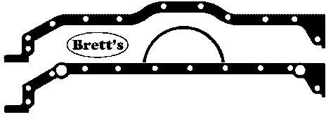 13115.031 SUMP GASKET TO BLOCK SL 3.5L TURBO AND NON TURBO