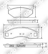 DB1004PM DISC PAD SET FRONT FRONT FORD FAIRLANE ZG 73-79