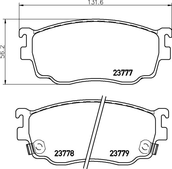 8DB 355 011-561 DISC PAD SET FRONT WITH ACOUSTIC WEAR
