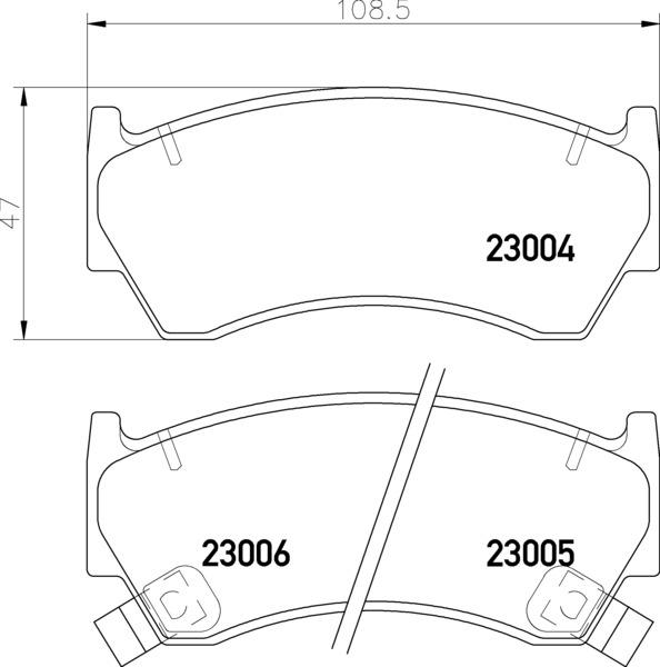 8DB 355 016-661 DISC PAD SET FRONT WITH ACOUSTIC WEAR
