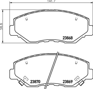 8DB 355 010-231 DISC PAD SET FRONT WITH ACOUSTIC WEAR