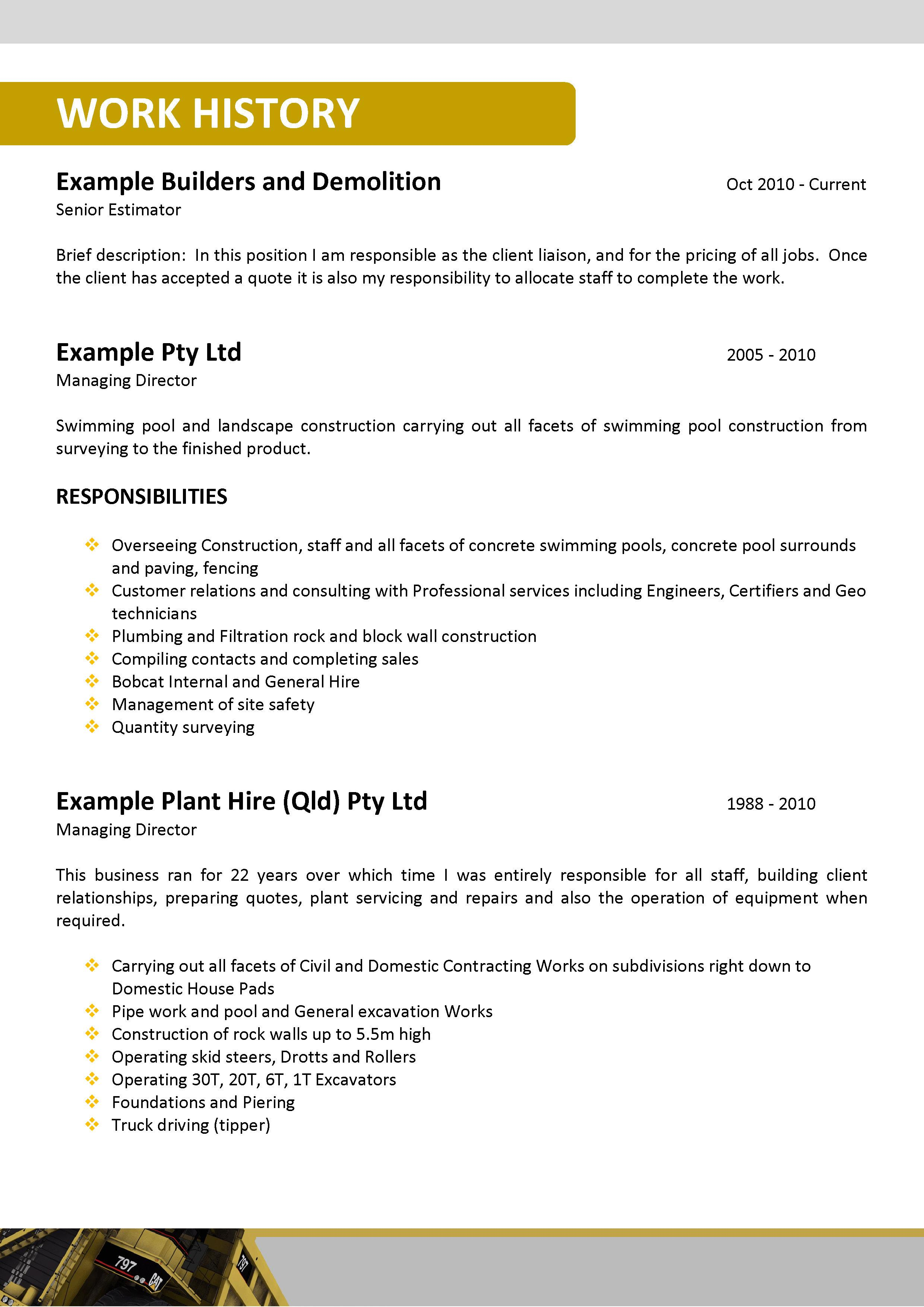 mining resumes examples - Resume Writing Examples