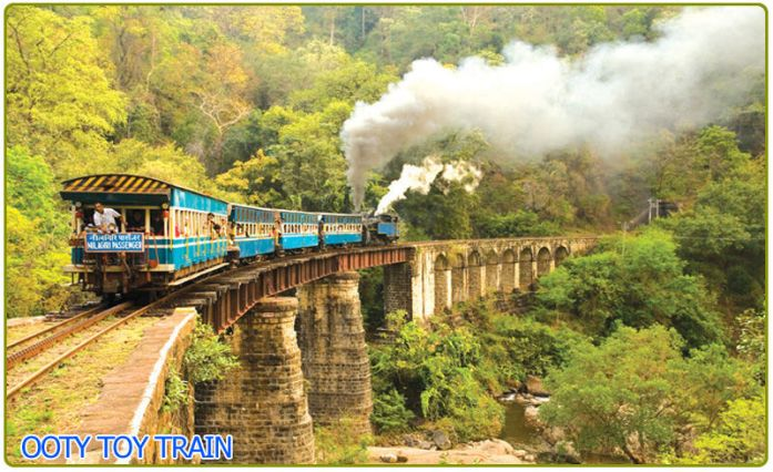 A picture of toy train from ooty to coonoor. Pic courtesy - Google images