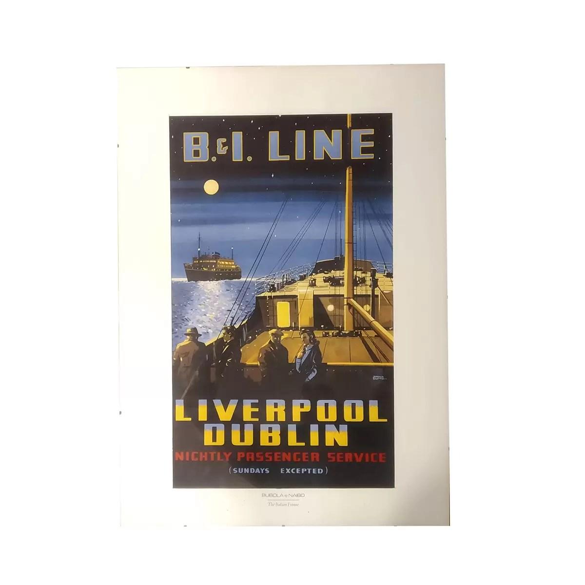 Poszter PB&I Line keretben Festmények, képek