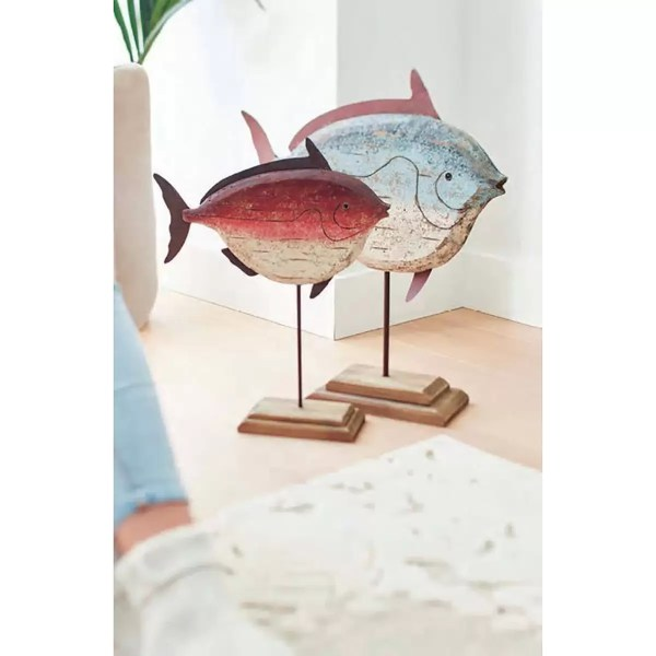 Fa hal színes Mókás figurák, szobrok