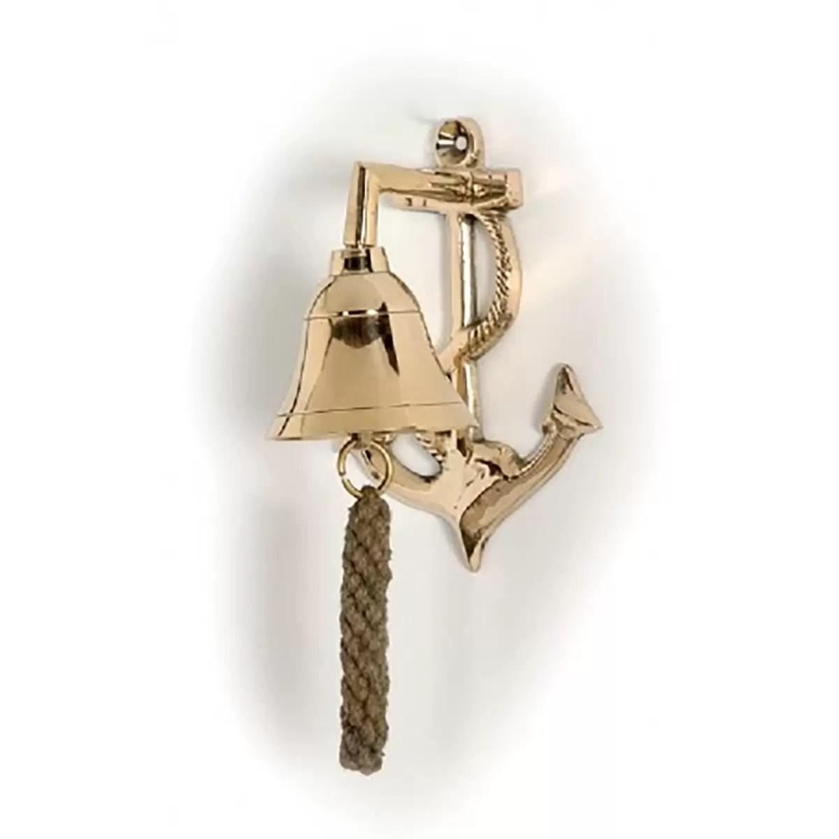 Réz hajóharang horgonytartón 8,5cm Harang