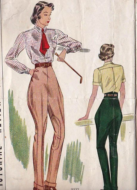 1930s riding trousers and shirt pattern - Pictorial Review 9337