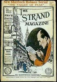The Strand Magazine Sherlock Holmes The Valley of Fear cover image