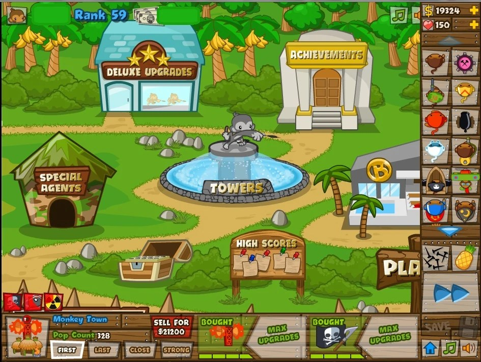 Black And Gold Games: Bloons Tower Defense 5 Deluxe Hacked
