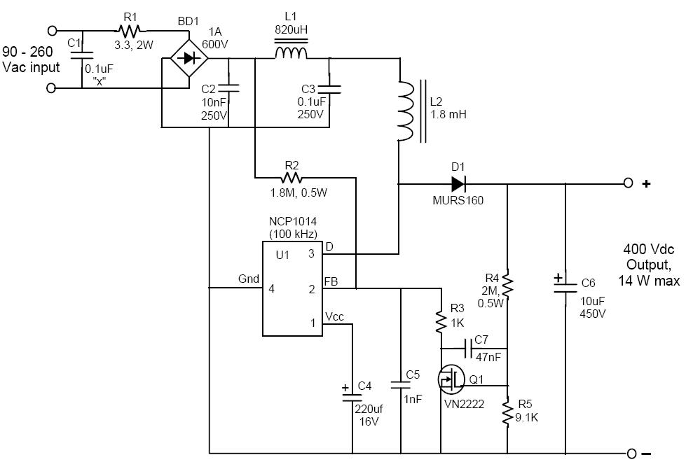 fig 4 boost converter evaluation circuit