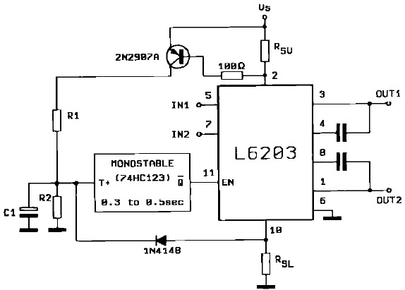 dc driver l6203 motor motor and general control with