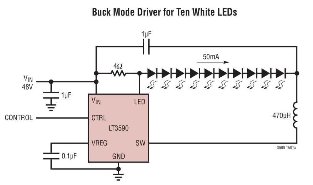 medium resolution of lt3590 typical application reference design general led driver image