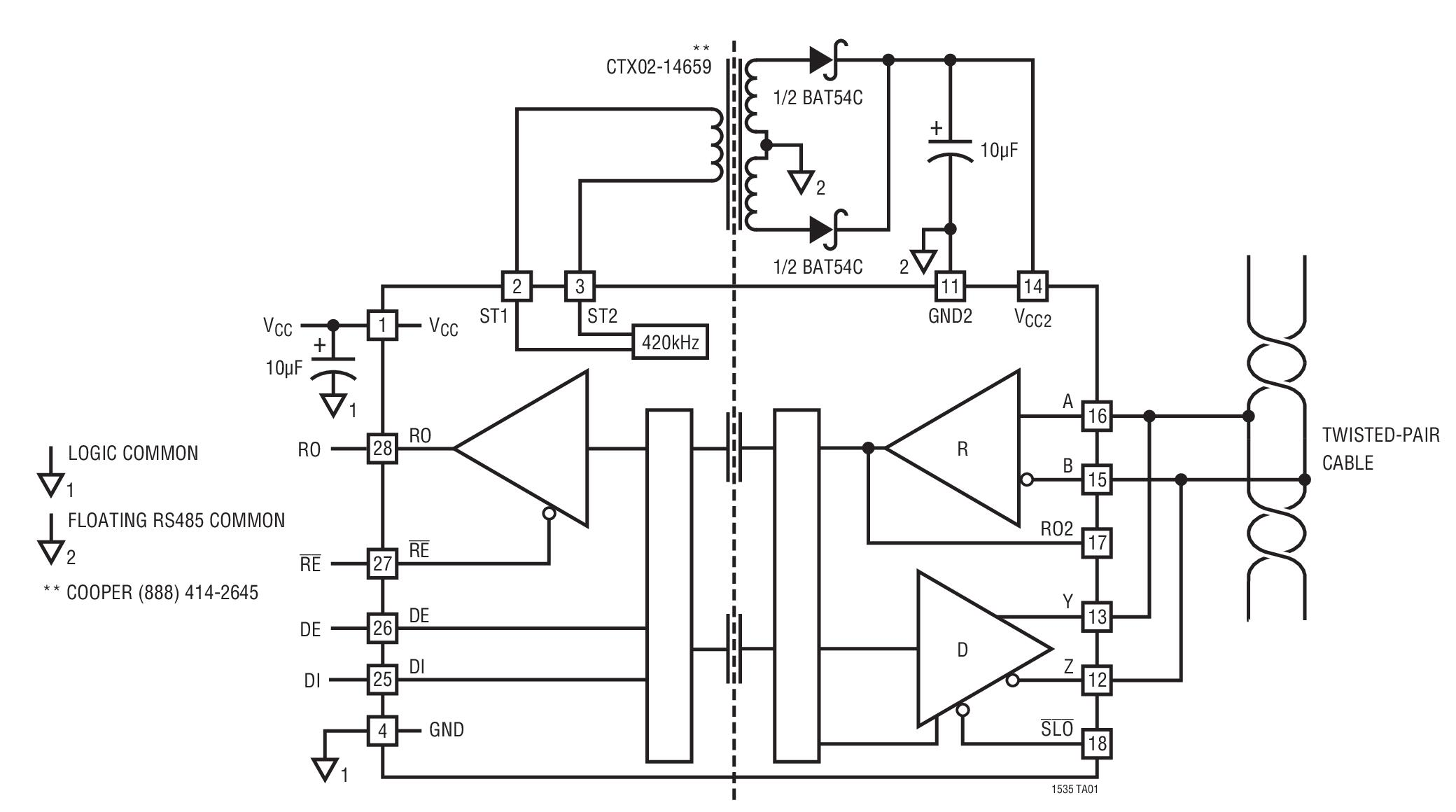 rs485 wiring 4 way switch diagram pdf ltc1535 typical application reference design rs 485