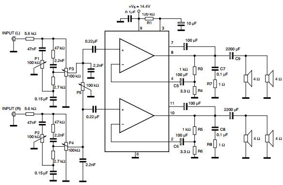 20w car radio power amplifier using tda2005