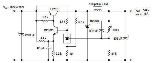 12v Led Circuit Diagram Switching Constant Current Driver Circuit