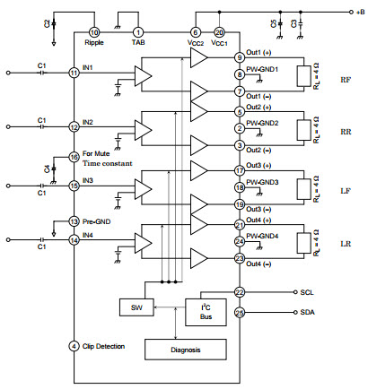 TB2902HQ_Typical Application Diseños de referencia