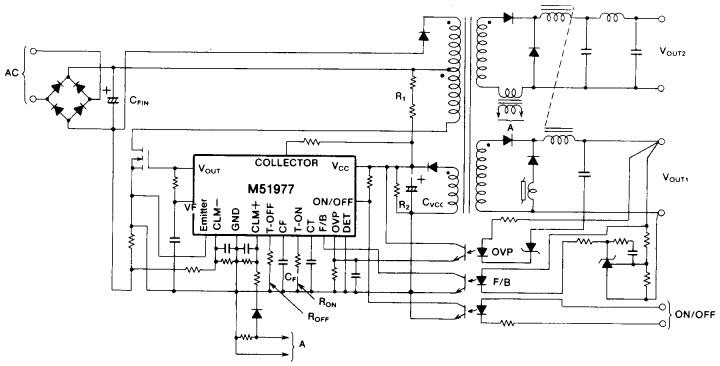 M51977P_Typical Application Progetto di riferimento