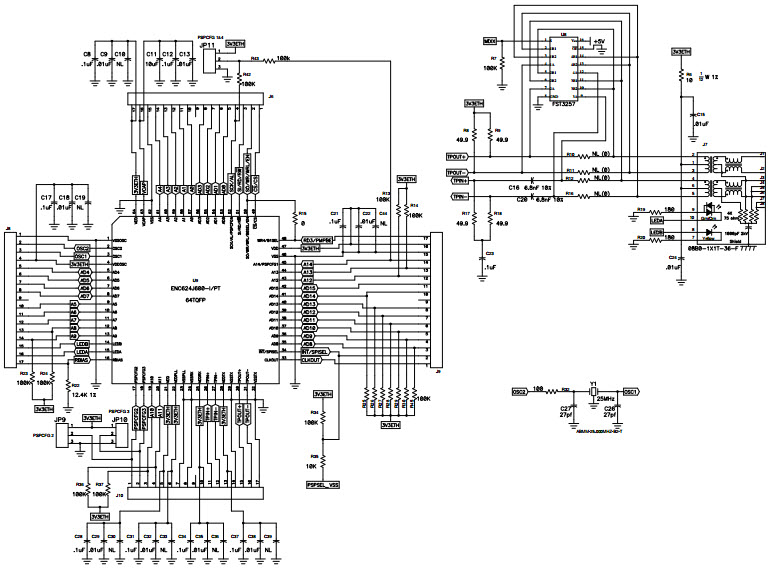 ethernet controller circuit board design and components