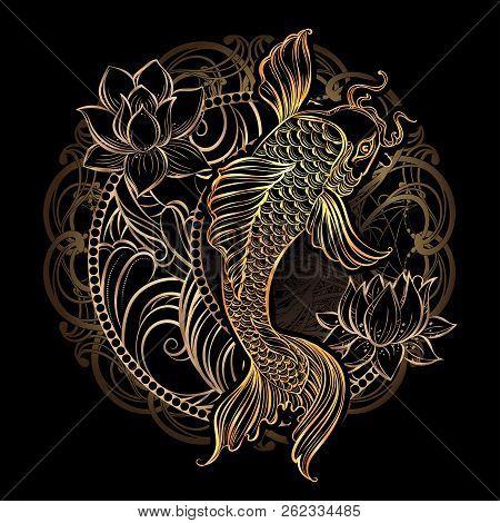 hand drawn asian spiritual