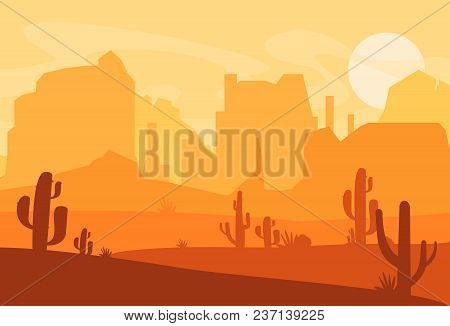 vector illustration of western