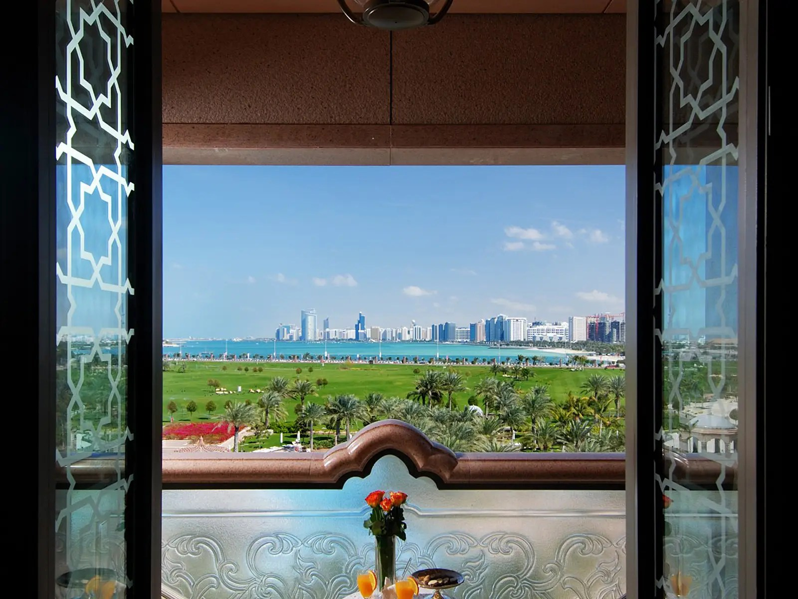 The Diamond room also has sweeping views of the ocean.