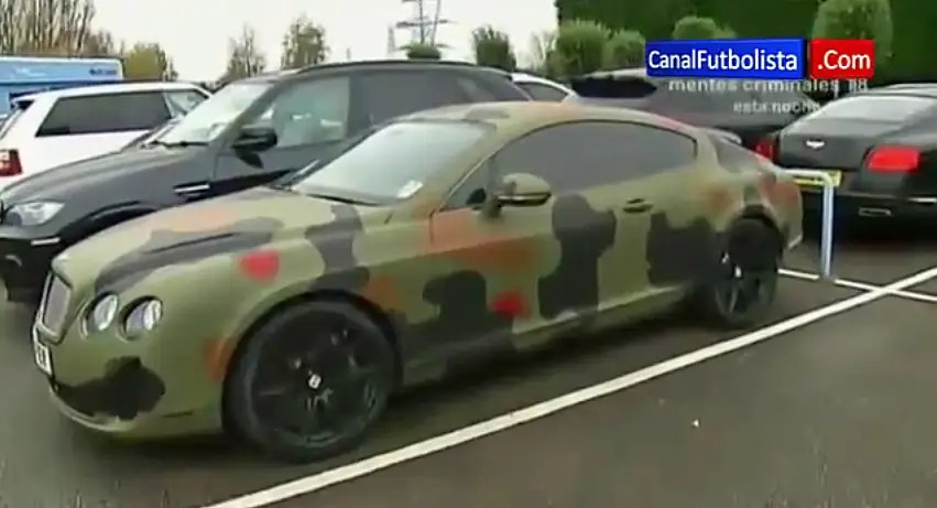 He says he gave his $250,000 camouflage Bentley to a teammate, who changed the color.